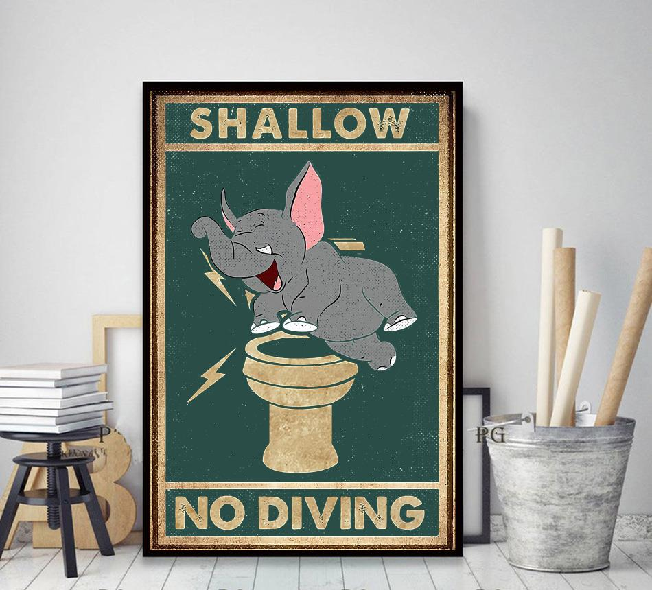 Elephant shallow no diving canvas decor art