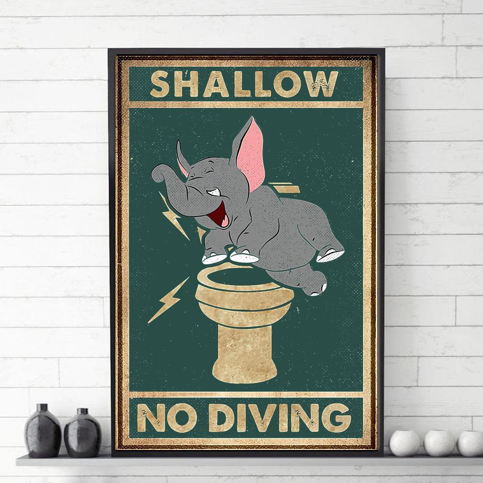 Elephant shallow no diving canvas