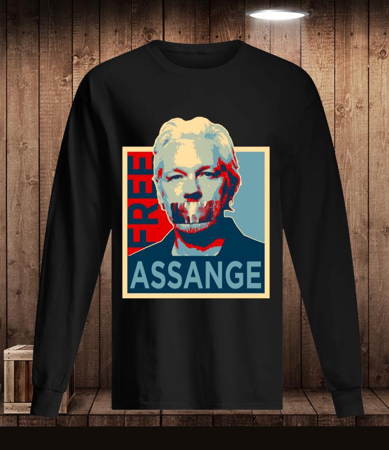 Free Julian Assange t-s Longsleeve