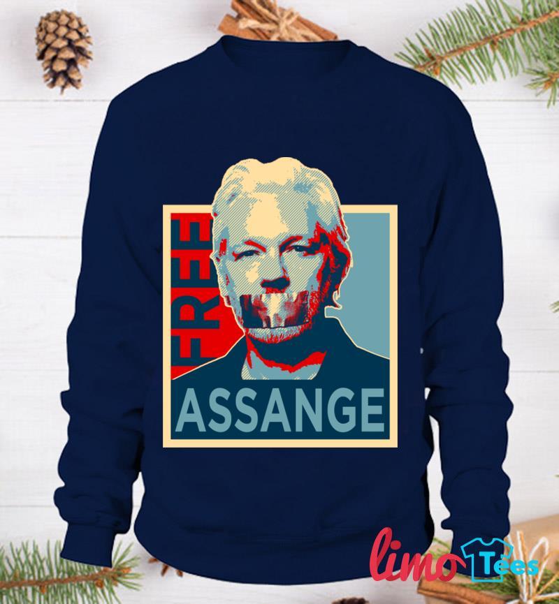 Free Julian Assange t-s sweatshirt
