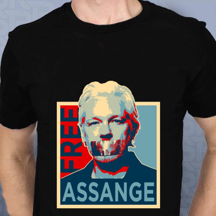 Free Julian Assange t-s t-shirt