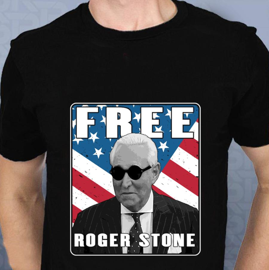 Free Roger Stone American Patriot t-s t-shirt