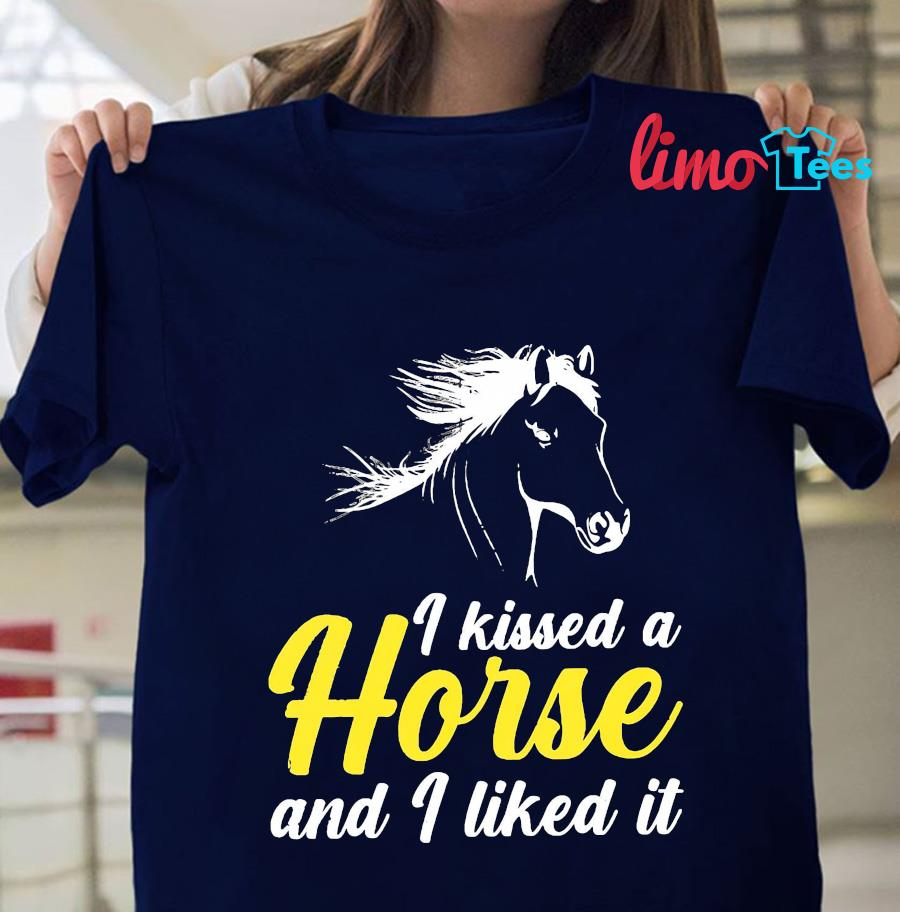 I kissed a horse and I liked it t-s navy unisex