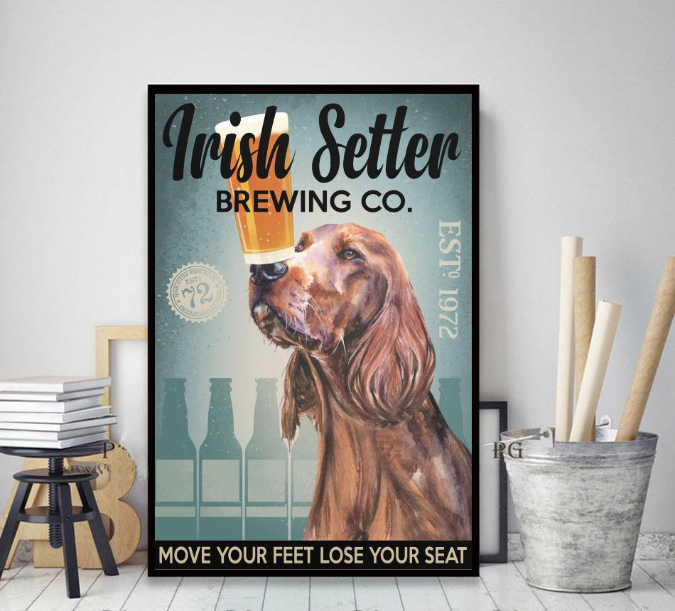 Irish Setter Brewing Co poster decor art