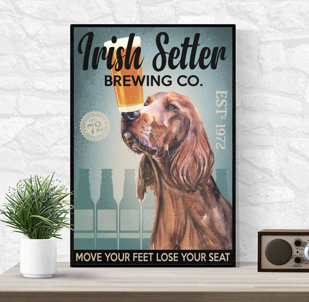 Irish Setter Brewing Co poster wrapped canvas