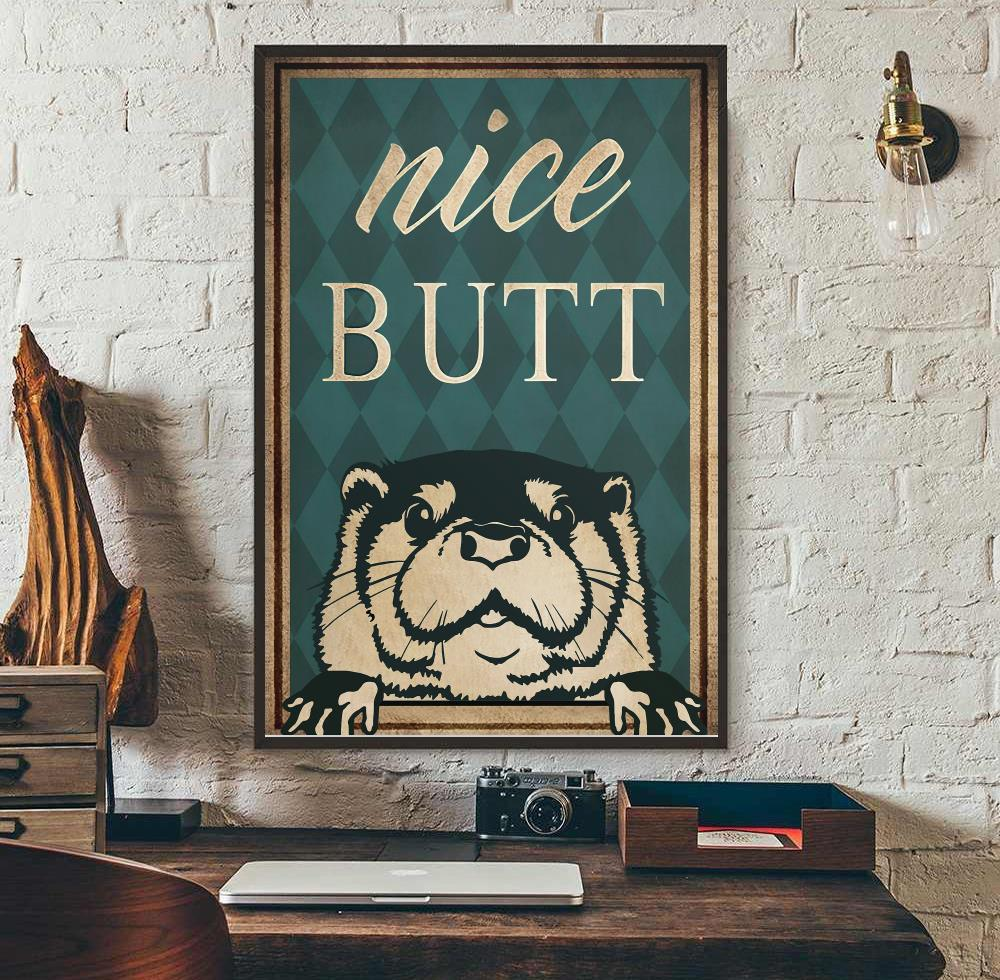 Otter nice butt vertical poster wall art