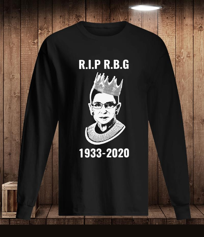 Rip Ruth Bader Ginsburg 1933-2020 women's rights t-s Longsleeve