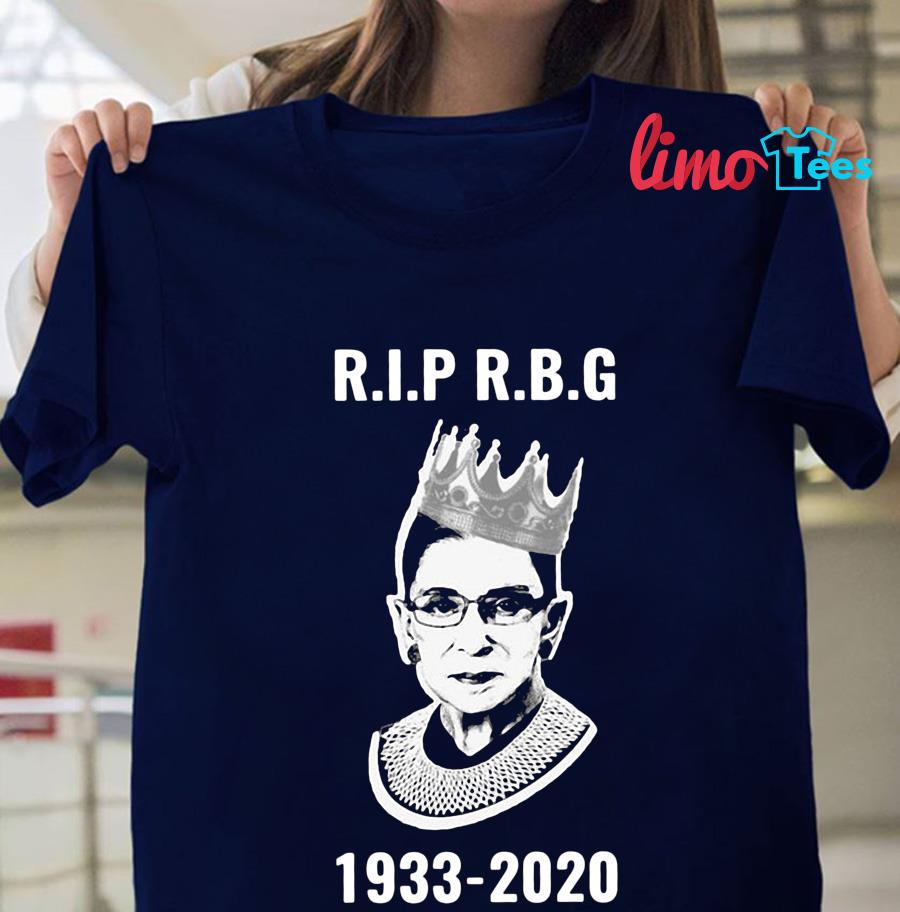 Rip Ruth Bader Ginsburg 1933-2020 women's rights t-shirt