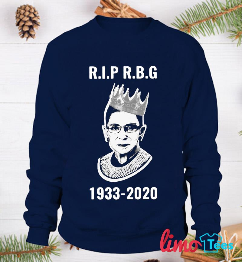 Rip Ruth Bader Ginsburg 1933-2020 women's rights t-s sweatshirt