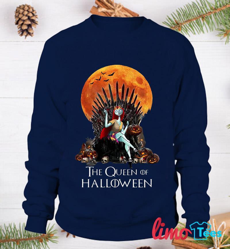 Sally Princess the queen of Halloween t-s sweatshirt