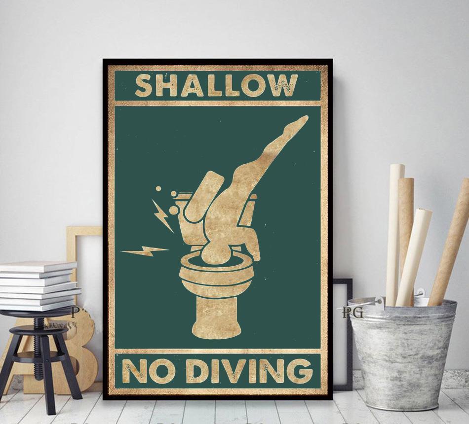 Shallow no diving vertical poster decor art