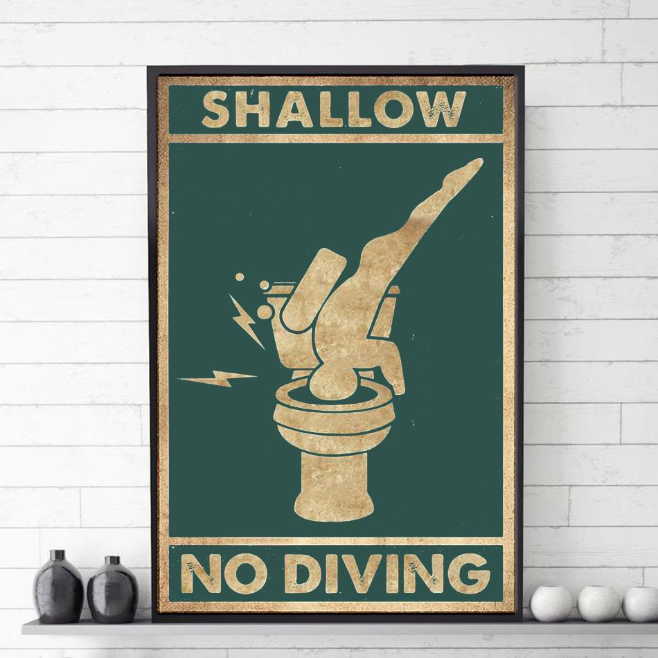Shallow no diving vertical poster