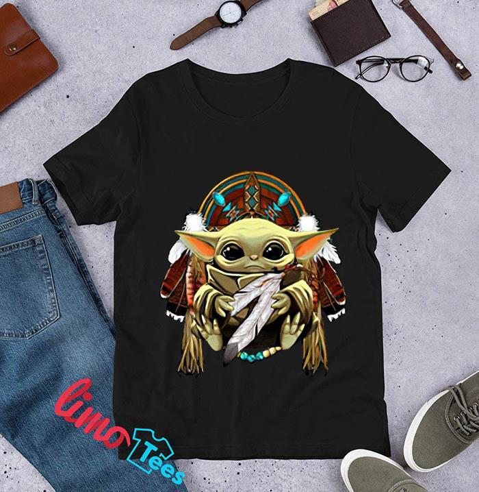 The Mandalorian Baby Yoda Native American people t-s unisex