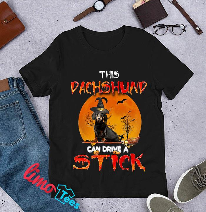 This dachshund can drive a stick t-s unisex