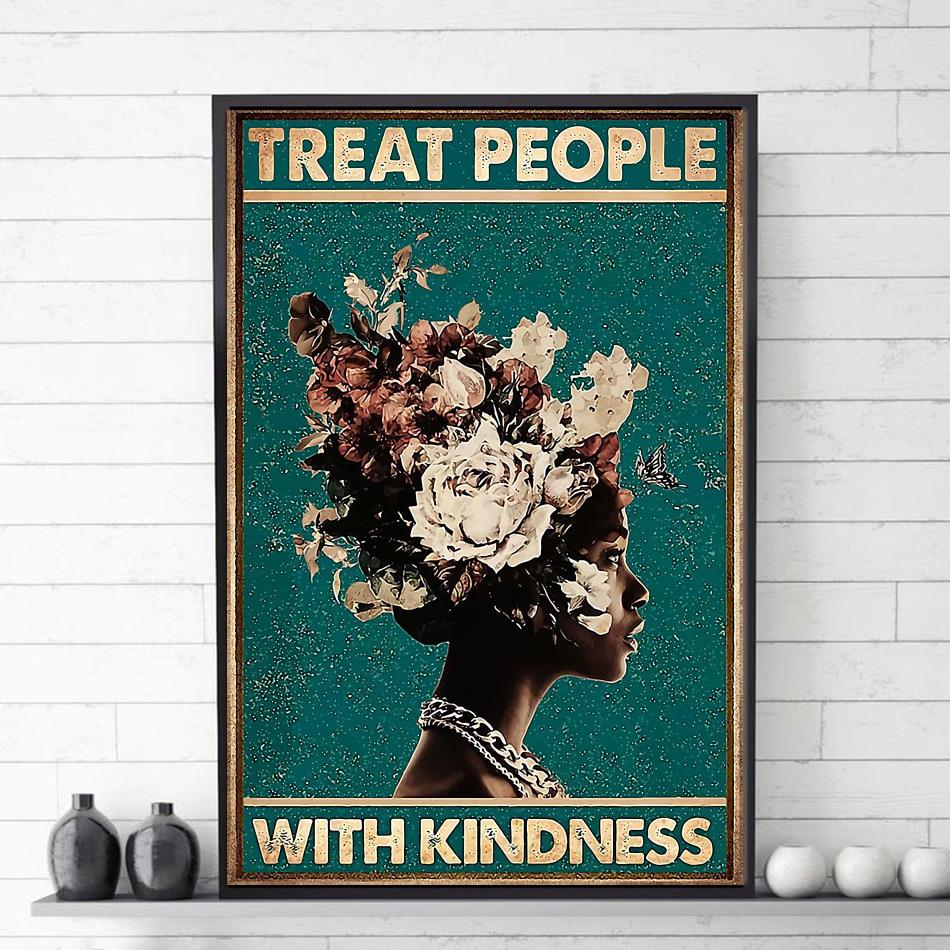 Treat people with kindness canvas