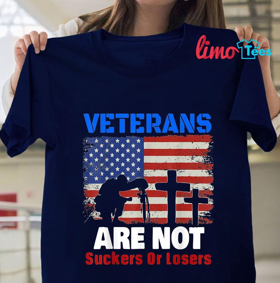 Veterans are not suckers or losers Anti Trump t-shirt