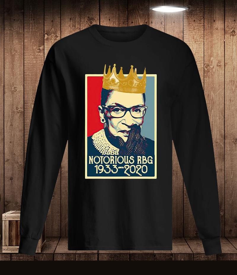 Vintage Notorious Rbg Ruth Bader Ginsburg 1933-2020 t-s Longsleeve