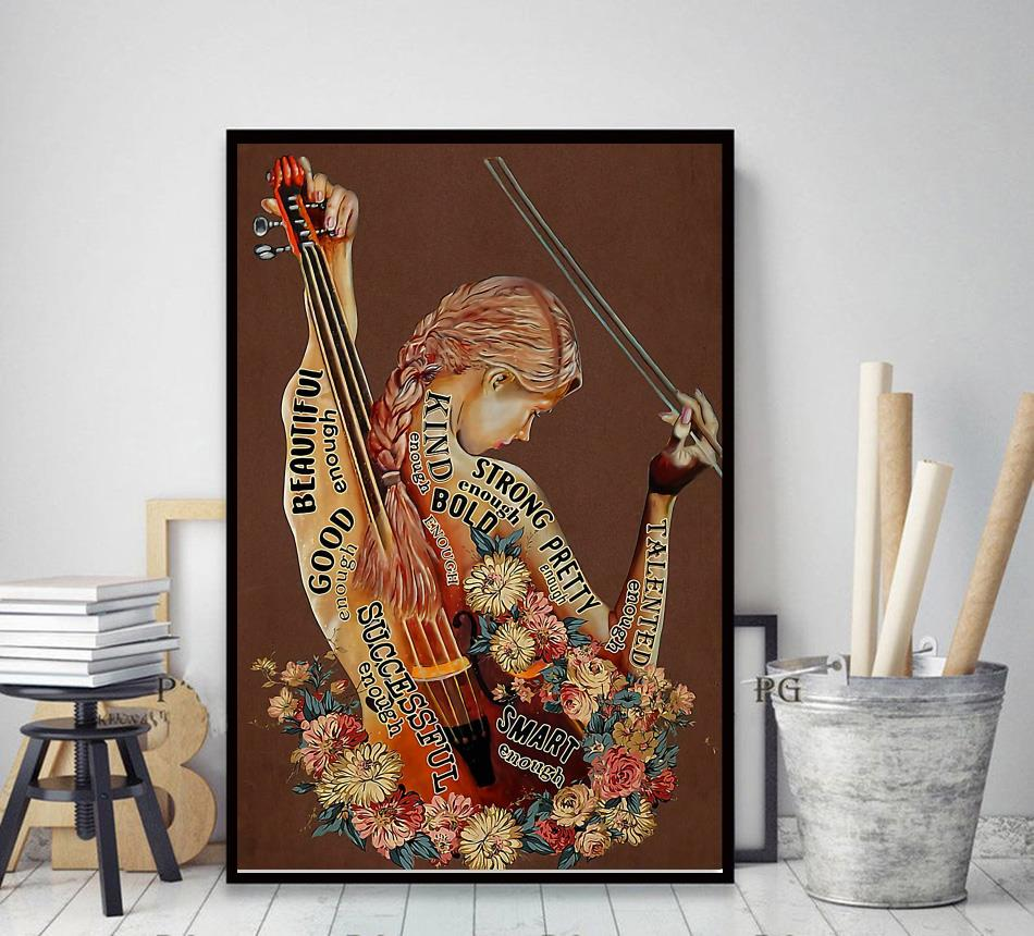 Violin adjective words describing violinists poster decor art