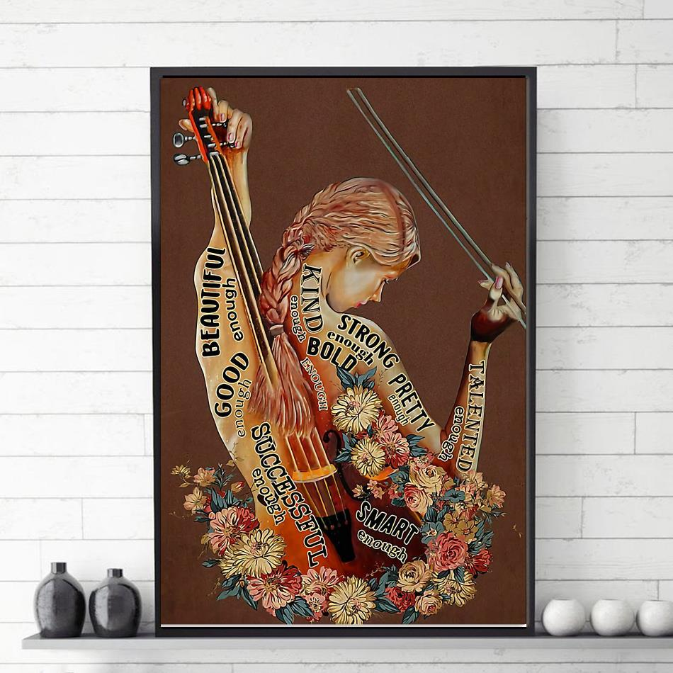 Violin adjective words describing violinists poster
