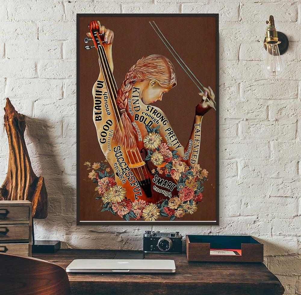 Violin adjective words describing violinists poster wall art