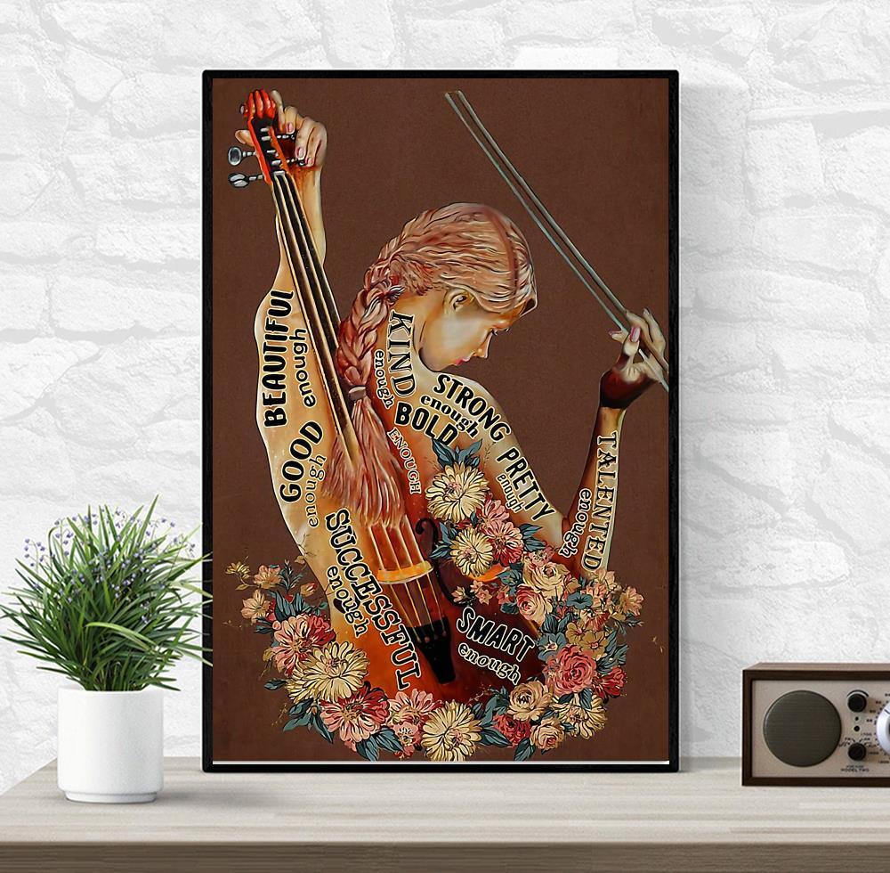Violin adjective words describing violinists poster wrapped canvas