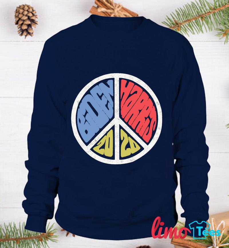 Biden Harris 2020 vintage peace sign t-s sweatshirt