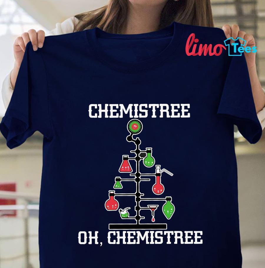 Chemistree oh Chemistree Christmas tree t-shirt