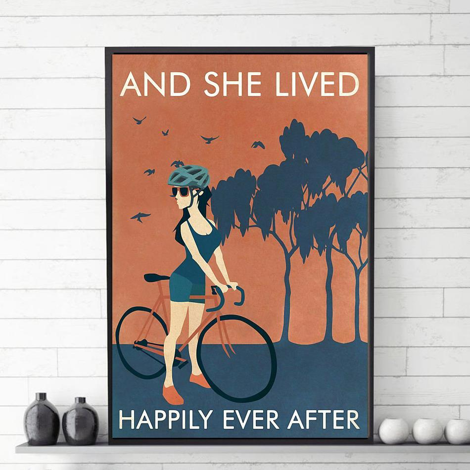 Cycling Girl lived happily ever after poster