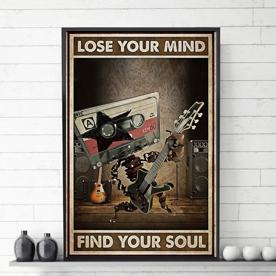 Electric guitar lose your mind find your soul poster