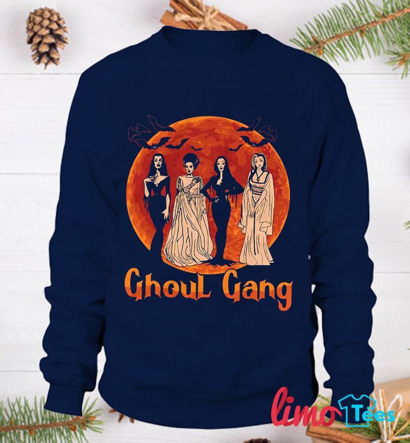 Ghoul Gang Sunset Halloween Squad Goals t-s sweatshirt