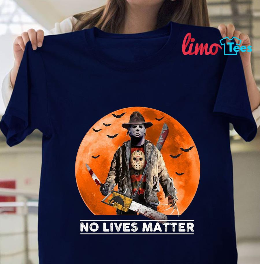 Michael Myers blood moon no lives matter t-shirt