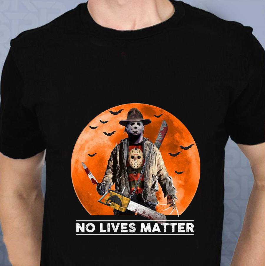 Michael Myers blood moon no lives matter t-s t-shirt