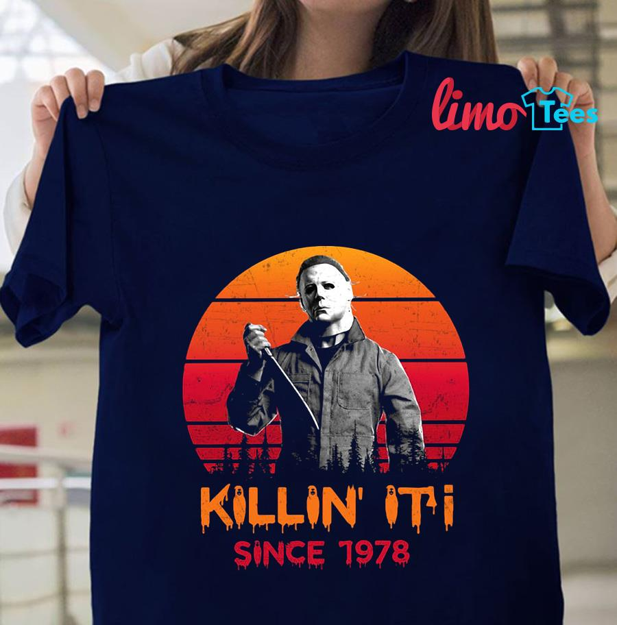 Michael Myers killin it since 1978 blood moon t-shirt