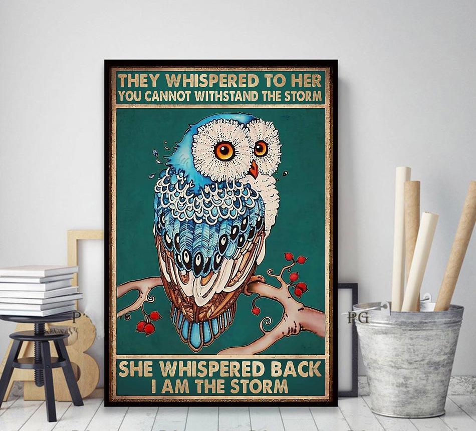 Owl whispered back I am the storm poster decor art