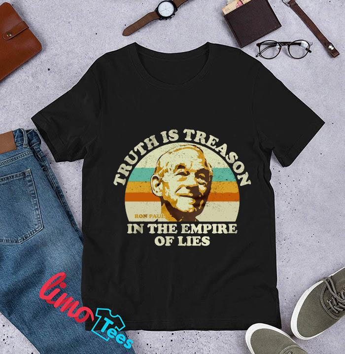 Ron Paul vintage truth is treason in the empire of lies t-s unisex