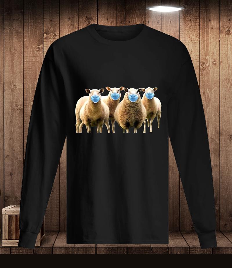 Sheep wearing mask quarantine t-s Longsleeve