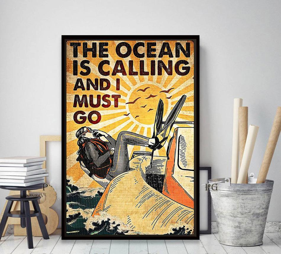 The Ocean is calling and I must go canvas decor art