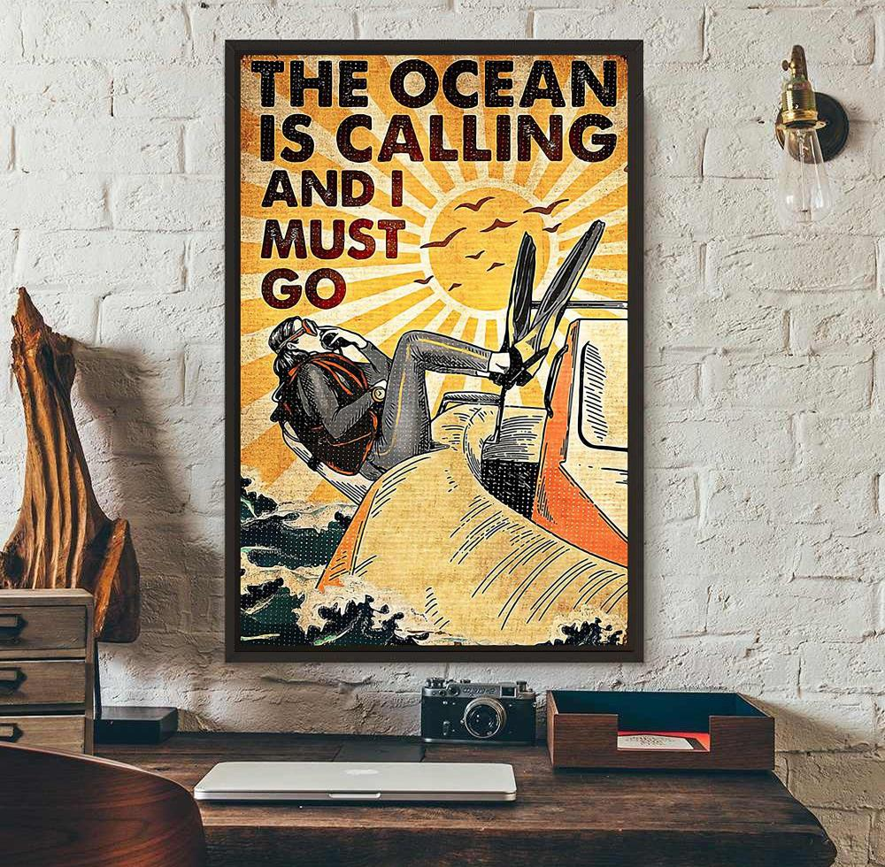 The Ocean is calling and I must go canvas wall art