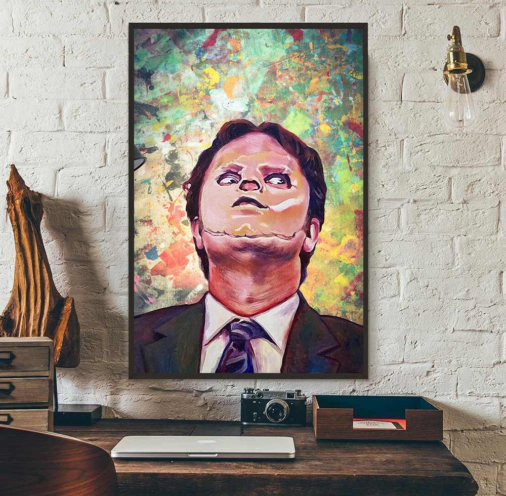 The Office Movie TV Dwight Schrute Heather Face poster wall art